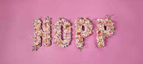 Interflora är stolt sponsor till Cancerfonden & Rosa bandet