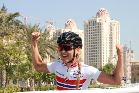 Katrine Aalerud under sykkel-VM 2016