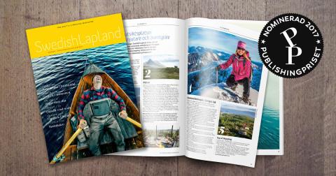 Finalist i Publishingpriset, bildkollage Swedish Lapland Visitors Board