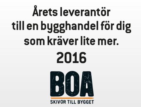 2016 års Bygma leverantör