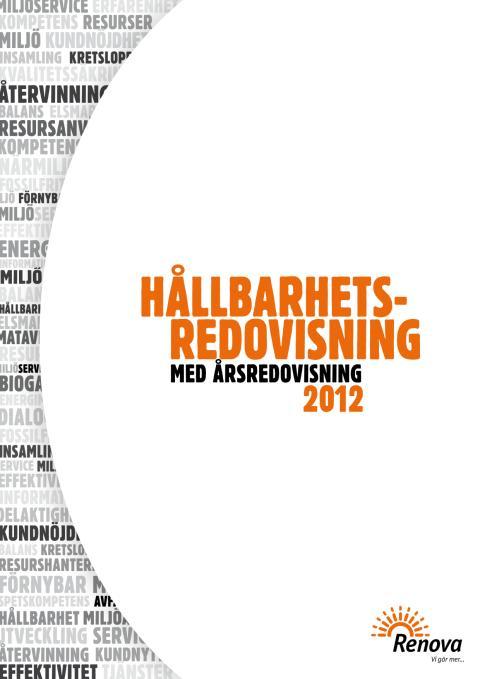Hållbarhetsredovisning med årsredovisning 2012