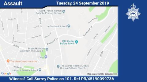 11-year-old boy assaulted on way home from school in Caterham - can you help?