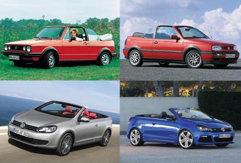 Golf Cabriolet – fire årtier med topløse køreoplevelser