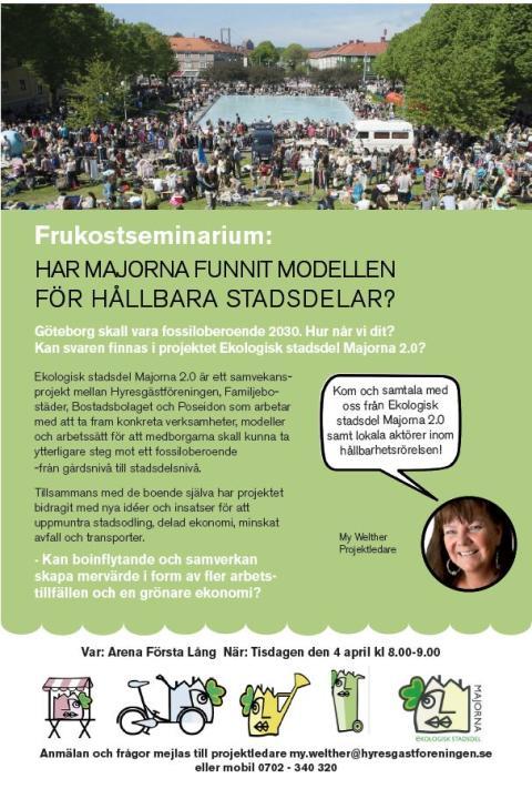 Frukostseminarium med Ekologisk Stadsdel Majorna 2.0