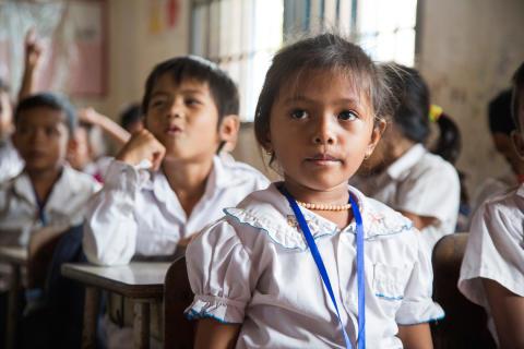 Fra skole i Kambodsja
