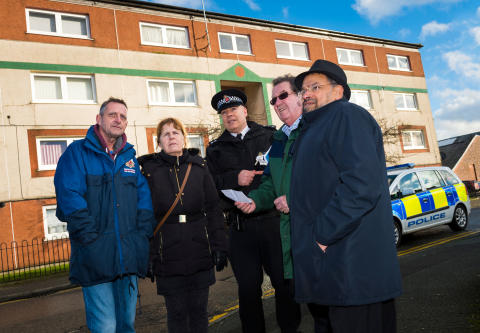 CRIME AND GRIME: A day of action in Heywood took place in the town centre and Angel Meadows estate