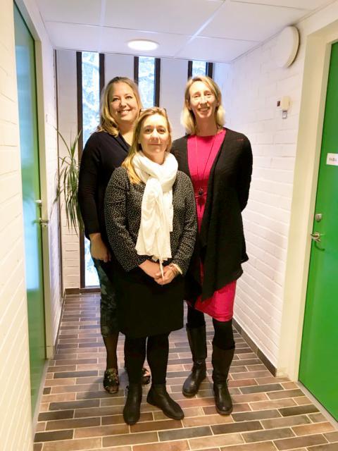 Veronica Wirebratt, kurator,  Annika Hermansson Scheja, psykolog, och Lotta Karlsson, psykolog.