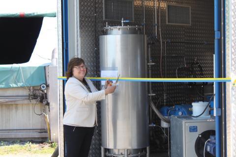 Demonstrationsanläggning för småskalig uppgradering av biogas invigd