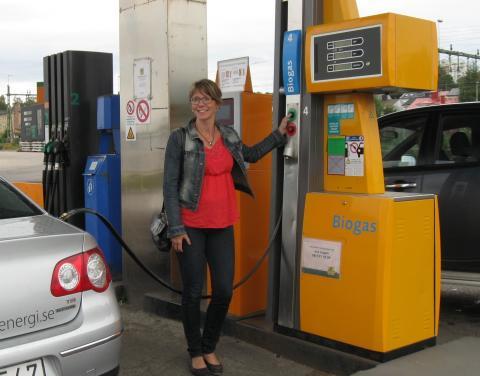 Nu trycker vi på startknappen för fordonsgas i Umeåregionen