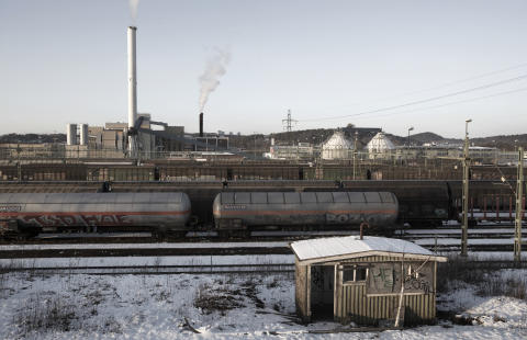 The shunting yard in Gothenburg