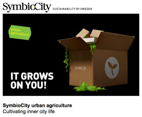 Urban Agriculture - New offer in SymbioCity from Plantagon