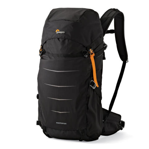 Lowepro Photo Sport II BP300 AW, svart snett framifrån