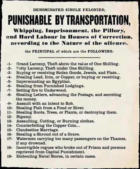 The 19 Crimes