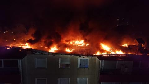 Ingen återinflyttning till brandskadad fastighet idag