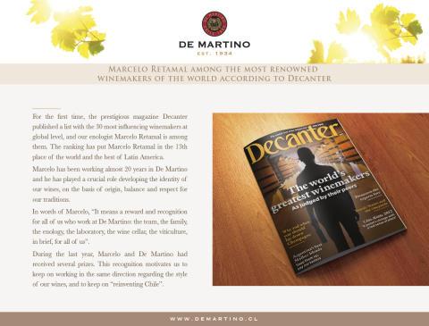 Marcelo Retamal finns med på listan över världens bästa vinmakare enligt Decanter 2015