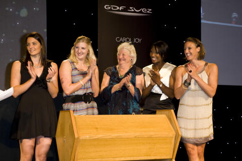 Keri-anne Payne, Rebecca Adlington, Mary Peters, Denise Lewis and Karen Pickering at the SportsBall in 2009