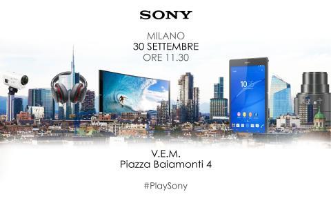 Evento PlaySony - 30 settembre
