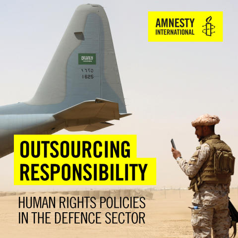Världen: Försvarsindustrin brister när det gäller att granska människorättsriskerna med sin verksamhet