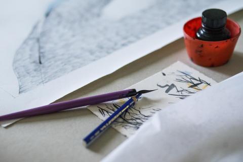 Zdenka Rusova er en mester innen tegning og grafikk