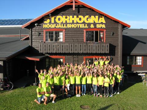 Elitläger för Svenska Skidförbundets unga längdåkare i Storhogna