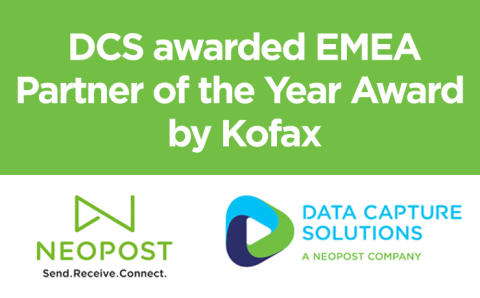 DCS awarded EMEA Partner of the Year Award by Kofax