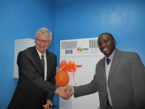Surbana Jurong's SMEC Foundation donates blood bank refrigerator to Zambia hospital