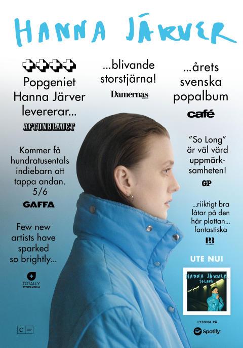 Hanna Järvers debutalbum hyllas – utökar med fler livedatum i sommar