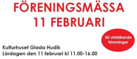 Träffa HuFF och 49 andra föreningar på föreningsmässa i Kulturhuset lördag 11 feb mellan kl. 11-16.