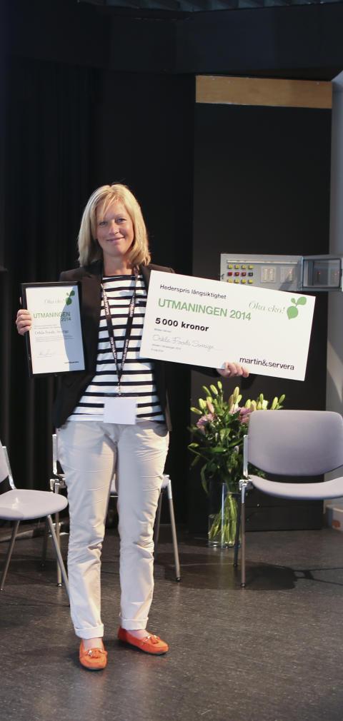 Utmaningen 2014_Vinnare hederspris Långsiktighet_Orkla Foods Sverige