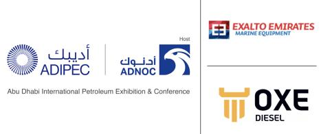 OXE Diesel displayed at ADIPEC by Exalto Emirates, 9 - 12 November