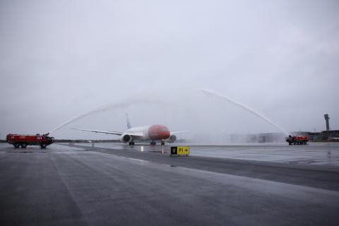 Boeing Dreamliner 787-8 fullastet med 291 passasjerer av fra Oslo lufthavn mot Las Vegas