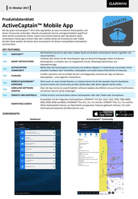 Datenblatt ActiveCaptain Mobile App