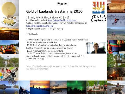 Så här anmäler ni er till  Gold of Laplands årsstämma den 18 maj