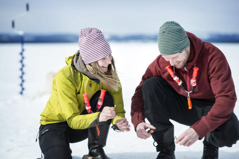 Ice fishing, Lake Storsjön
