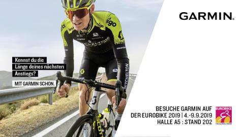 EUROBIKE 2019: Garmin präsentiert Produkt-Highlights aus dem Bike-Bereich