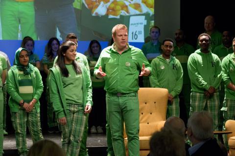 KIWI XL Ligosenteret farget Union scene grønn.