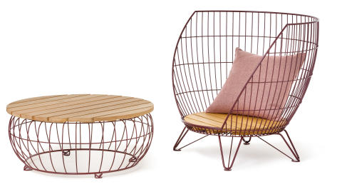 Small Basket armchair, design Ola Gillgren