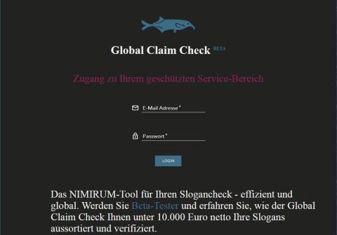 Check-up für Claims: erstes Digital-Tool von Nimirum gelauncht //  Der Wissensdienstleister digitalisiert Kulturcheck für Werbeslogans