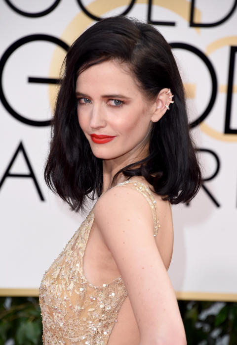 L'Oréal Professionnels Internasjonale Talsperson, Eva Green, på den røde løper under Golden Globe 2016