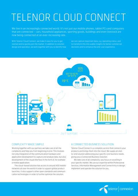 Telenor Cloud Connect Datasheet