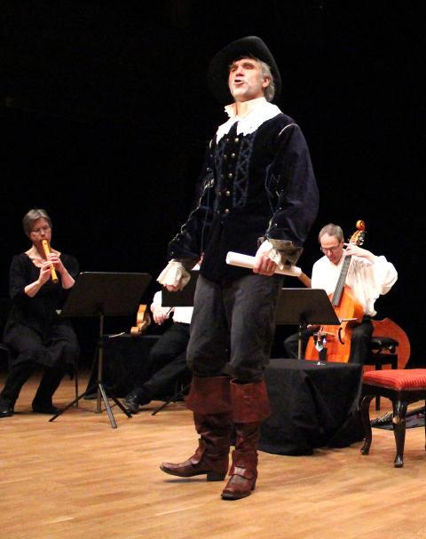 Martin Bagge i föreställningen Ack Libertas!