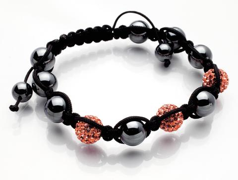 Dråpe discoballs armbånd orange