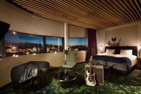 Guest room at U&Me Hotel, Umeå, Sweden, by Stylt