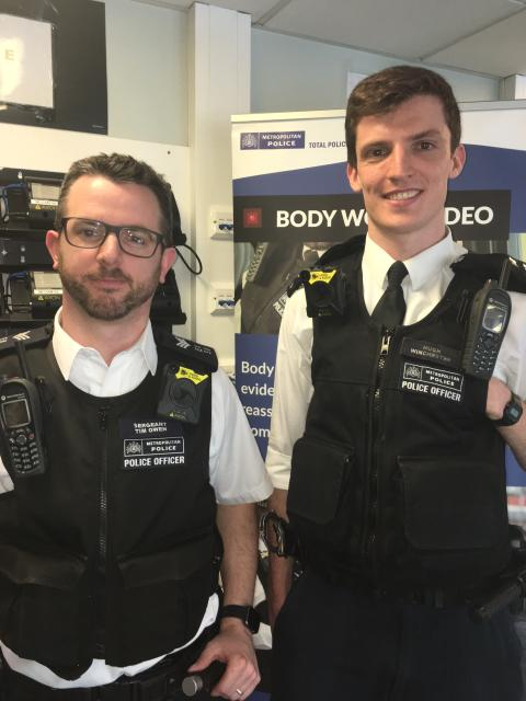 Sgt Tim Owen and PC Hugh Winchester