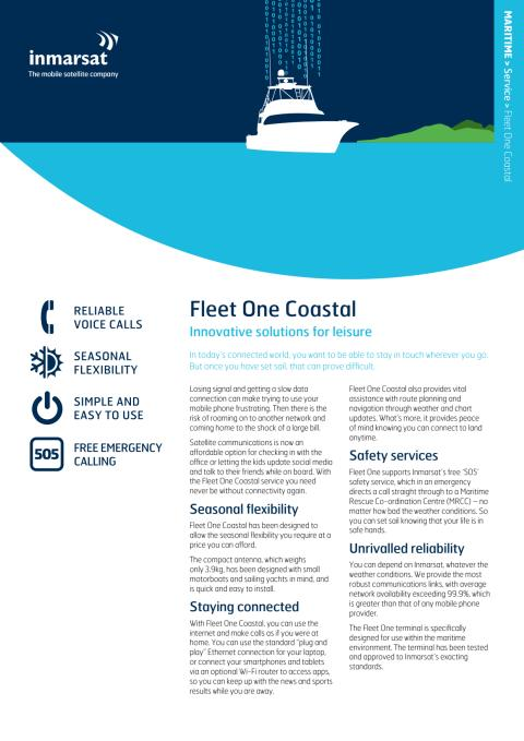 Inmarsat Fleet One leaflet