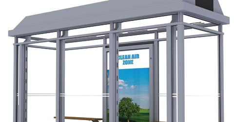 New bus shelter will clean the air in cities