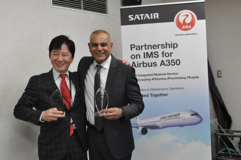 JAPAN AIRLINES SIGNS MULTI-YEAR AGREEMENT WITH SATAIR FOR AIRBUS A350 MATERIAL SOLUTION