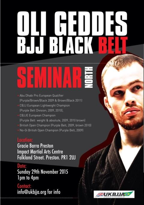 Charity Seminar run by black belt Oli Geddes