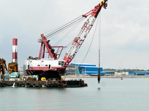 Chiselling Work At Kabil Port Batam