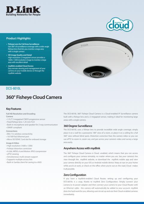 Produktblad, DCS-6010L